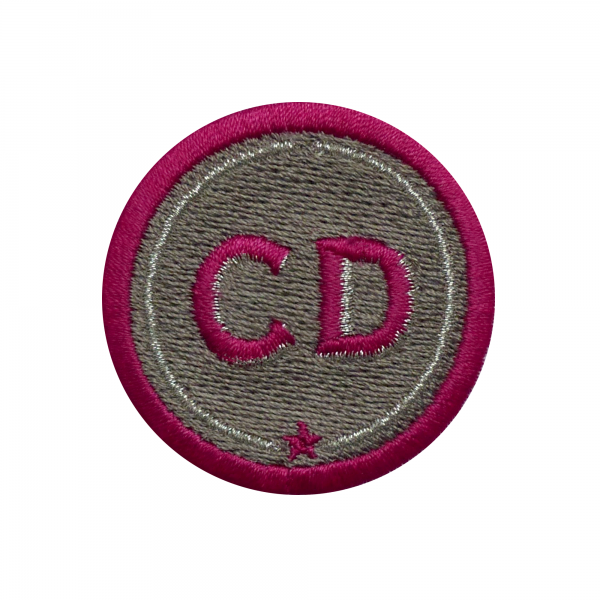 Patch INITIALS · 4 cm · beige · customizable
