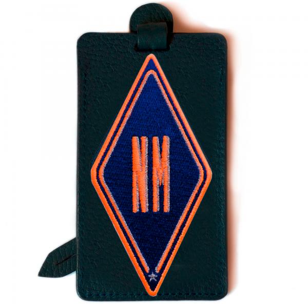 Gepäckanhänger Karo · violett · personalisierbar