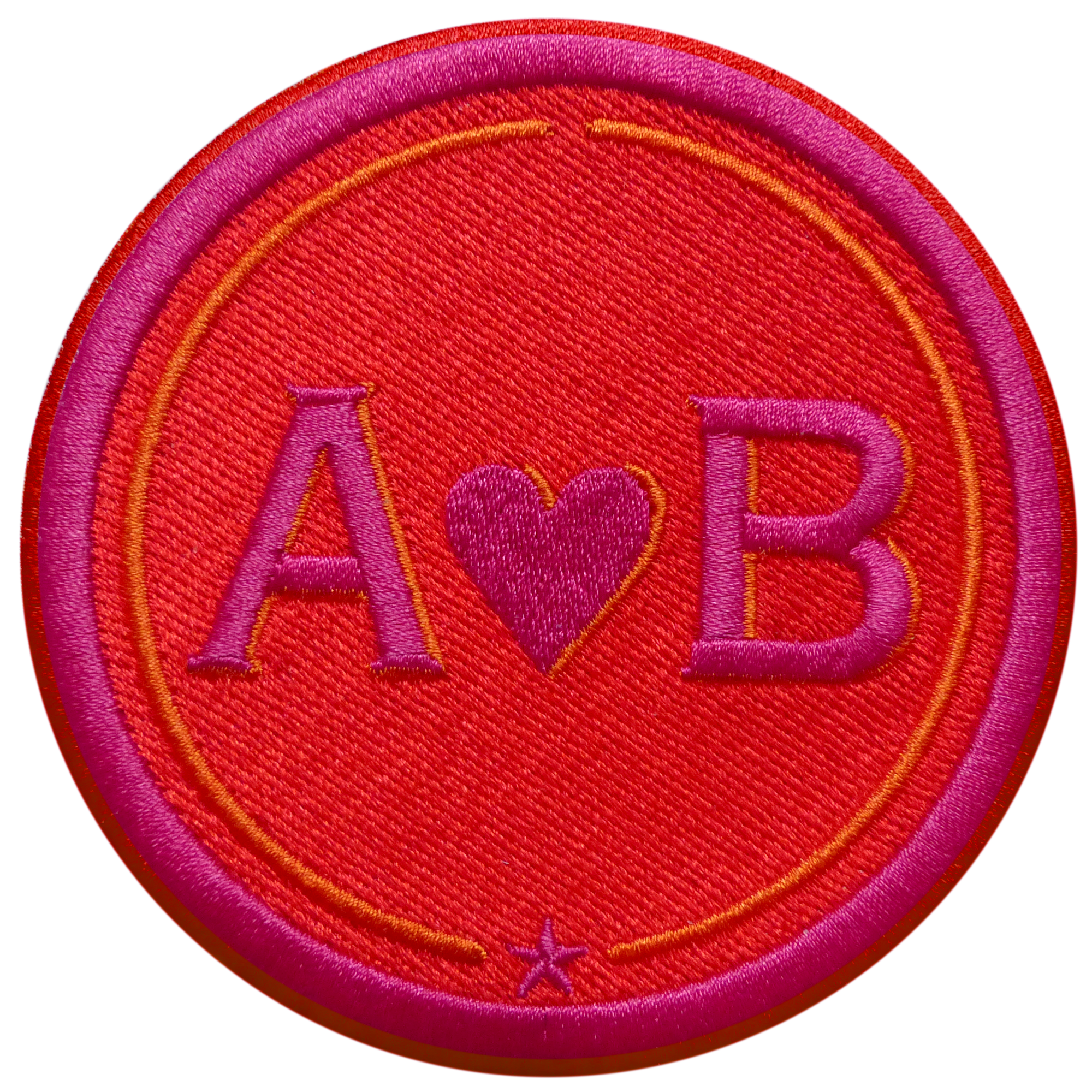 Label LOVE 9 cm · red/pink · customizable