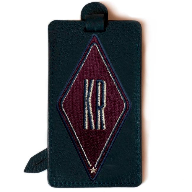 Gepäckanhänger Karo · bordeaux · personalisierbar
