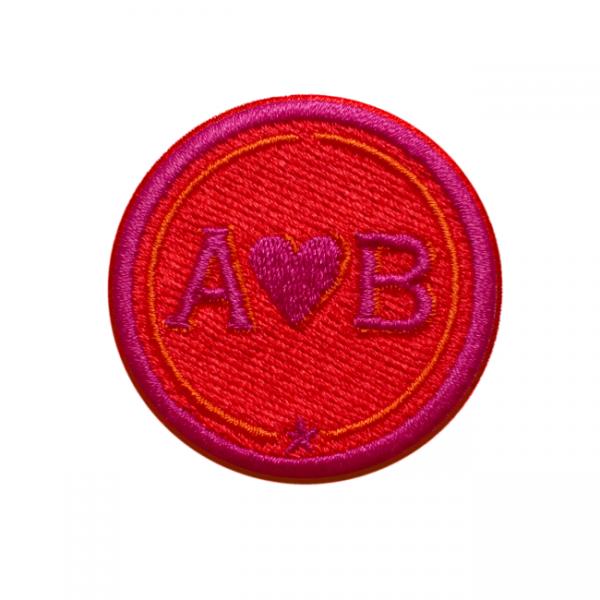 Label LOVE · 4cm · rot/pink · personalisierbar