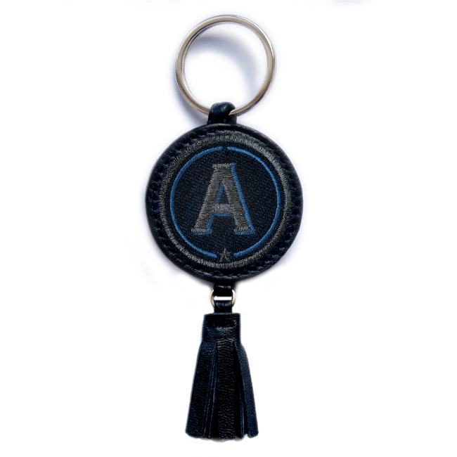 Key ring ABC · anthracite metallic/navy · with tassel